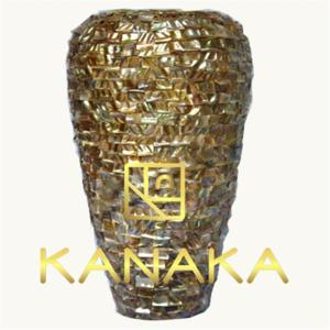 Wholesale handicrafts item: Mother of Pearl Shell Mosaic Lacquer Vase