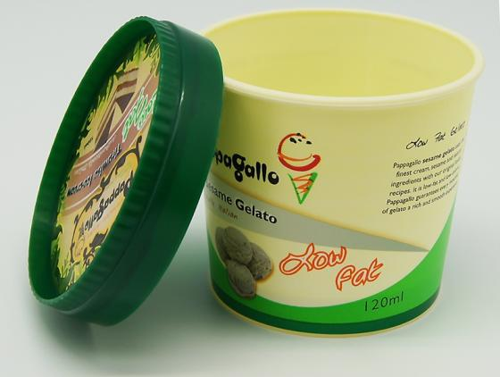 120#C Plastic Ice Cream Cup, Available in Various Size, Colors