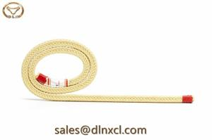 Wholesale anti heat: Heat Resistance Anti-abrasive Square Kevlar Roller Rope for Glass Tempering Furnaces