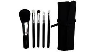 Wholesale professional makeup brush: 5pcs Professional Makeup Brush Set in Pouch