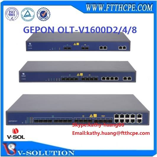 3d monitor: Sell 1U layer 3 route web management GEPON OLT V1600D2/4/8 FTTH EPON OLT