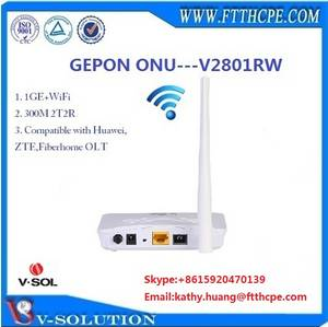 Wholesale gepon: 1GE+WiFi FTTH EPON/GEPON ONT ONU