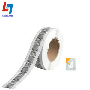 Wholesale rfid stickers tags label: 8.2Mhz EAS RF Soft Anti Theft Label