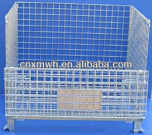 Wholesale wire mesh container: Collapsible Wire Mesh Container Steel Cage