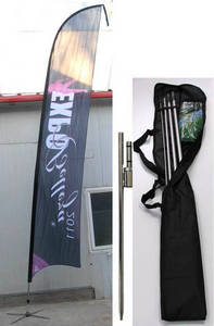 Wholesale banners: Flag Banner Pole and Base