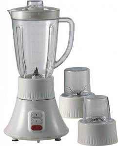 Wholesale Blender: 1.6L 3 in 1 food processor blender mill mincer plastic body