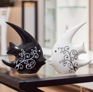Wholesale abstract: Home Furnishing Abstract Black and White Fish Kissing Fish Weddi