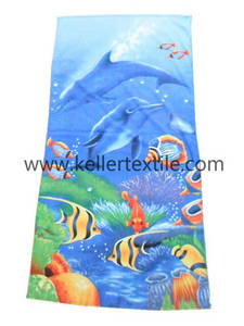 Wholesale shark: Customized Printed Cotton Shark Beach Towel