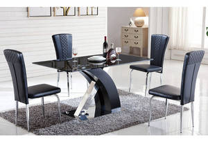Wholesale glass dining table: New Design Tempered Glass Dining Table