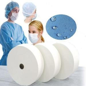 Wholesale net roll: 3 Ply Disposable Surgical Face Mask Material Nonwoven Fabric