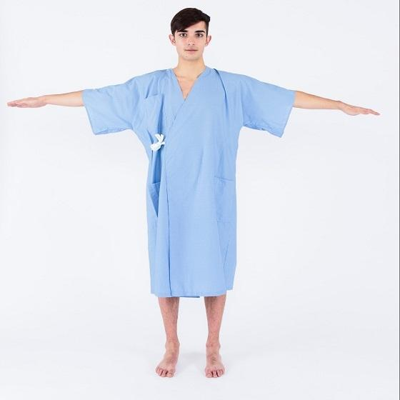 Wholesale Hospital Gown Patient Gowns Uniform Sick Clothes Fits All Sizes