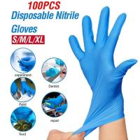 Best Selling Wholesale Blue Medical Powder Free Nitrile Disposable Gloves