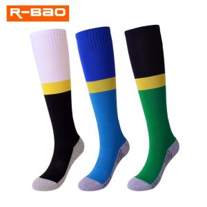 Wholesale athletic: R-BAO New Style Knee-length Breathable Towel Bottom Sweat Wicking Soccer Sports Socks for Athlete/St