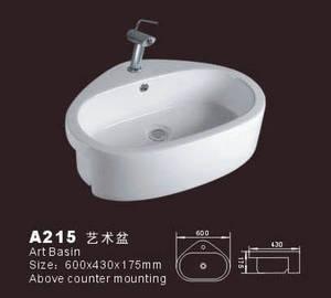 Wholesale sanitaryware: White Ceramic Sink