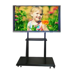 Wholesale multimedia speaker systems: High Quality 55 65 75 Inch Android or Windows OS IR Touch Smart Interactive Whiteboard for Schools