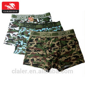 Wholesale boxers under: Custom Comfort Soft Cotton Camouflage Underwear Army Navy Air Force Green Men Boxers Underwear