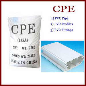 Wholesale rubber extrusion profile: CPE135A/ Chlorinated Polyethylene for PVC Pipe
