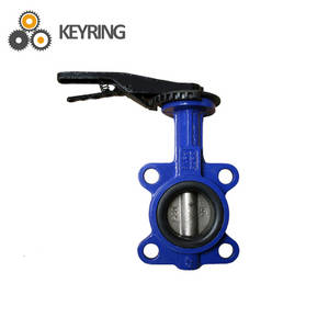 Wholesale sanitary butterfly valves: Sanitary Handle Stainless Steel 6 Inch Butterfly Valve