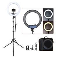 18 Inch Dimmable LED Circle Makeup Selfie Ring Light with Tripod Stand