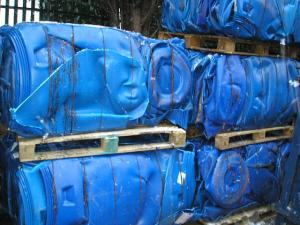 Wholesale milk bottle: HDPE Milk Bottle Scraps in Bales / HDPE Natural Bottles Scraps