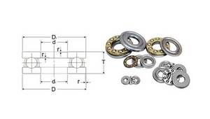 Wholesale Thrust Ball Bearing: Thrust Ball Bearing 5100 F6-14M T AXK Series