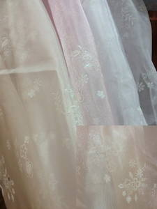 Wholesale curtains: Luminous Flower Tulle, Curtain Sheers