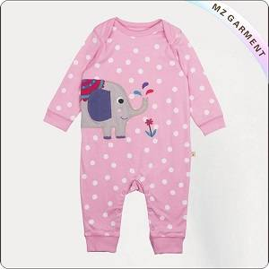 Wholesale Baby Rompers: Kids Organic Polka Dot Playsuit