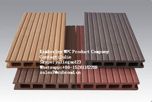 Wholesale Flooring: Recycable Material Synthetic Wood Texture Waterproof WPC Decking