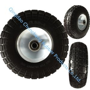 Wholesale pu wheel: 10 Inch 4.10/3.50-4 PU Foam Wheel Flat Free Wheel
