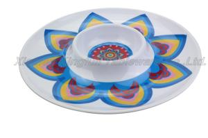 Wholesale platter: Chip and Dip Platter Plastic Party Plates Chip and Dip