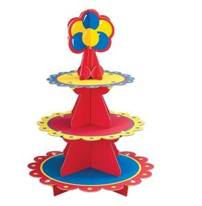 Wholesale cakes: Custom 3 Tier Paper Cardboard Cake Stand/Display Stand Cardboard Paper/Cupcake Stand for Christmas