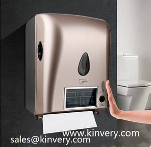 Wholesale Paper Holders: Automatic Sensor Paper Towel Dispenser (LCD DISPLAY)