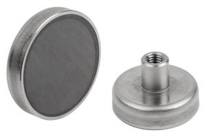 Wholesale stainless steel press fitting: Shallow Pot Magnets with Internal Thread