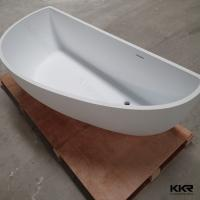 Pure White Mini Indoor Solid Surface Hot Tub Rectangular Corner Finland Bathtub