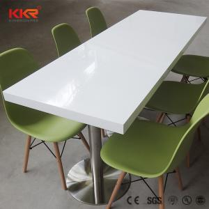 Wholesale dining table: Custom Artificial Marble Acrylic Solid Surface Cafeteria Dining Table and Chair