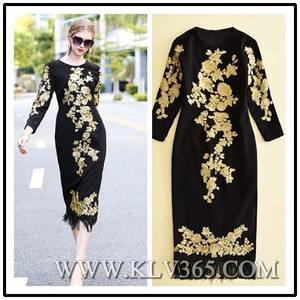 Wholesale Wedding & Evening Dresses: High Quality Designer Clothing Women Embroidery Bodycon Prom Evening Dress China Online