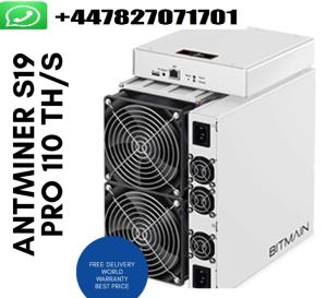 Wholesale power supply: Original 2020 Newest Bitmain Antminer S19 Pro 110Th/S Bitcoin Miner Include APW7 Power Supply