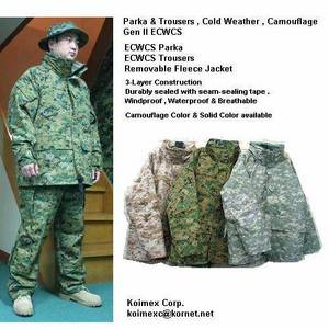 Wholesale Jackets: ECWCS Gen II Parka & Trousers