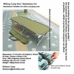 Wholesale aluminium: Aluminium Camp Cot