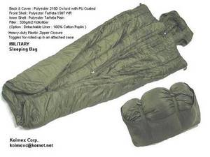 Wholesale bag: Military Sleeping Bag