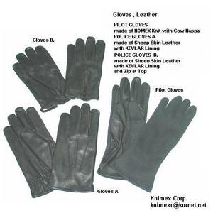 Wholesale kevlar gloves: Leather Gloves