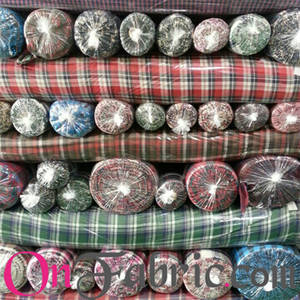 Wholesale yarns: Cotton 30~40's Yarn Dyed Check Woven 58/60