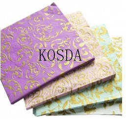 Wholesale gold stamping: Gold Stamped Paper Napkin