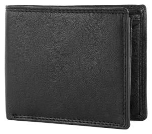 Wholesale card wallet: Genuine Leather Black RFID Blocking Credit Card Minimalist Wallet Case