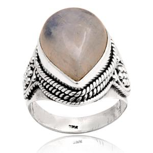 Wholesale sterling silver: Rainbow Moonstone Sterling Silver Ring