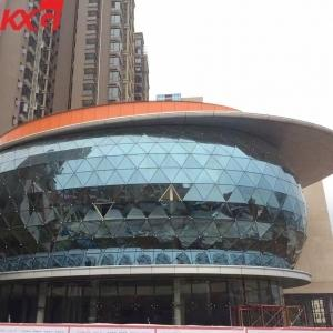 Wholesale glass walls: Building Glass Factory High Quality Flat and Curved Structural Facade Insulated Curtain Wall Glass