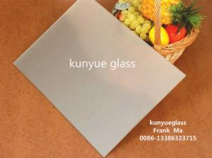 Wholesale kitchen wall cabinet doors: Acid Etched Glass