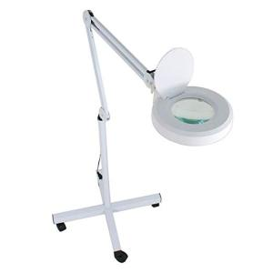 Wholesale led lamp: Facial Magnifing Lamp Floor 5 Diopter LED Magnifier Light W/Adjustable Beauty Salon Skincare Manicur