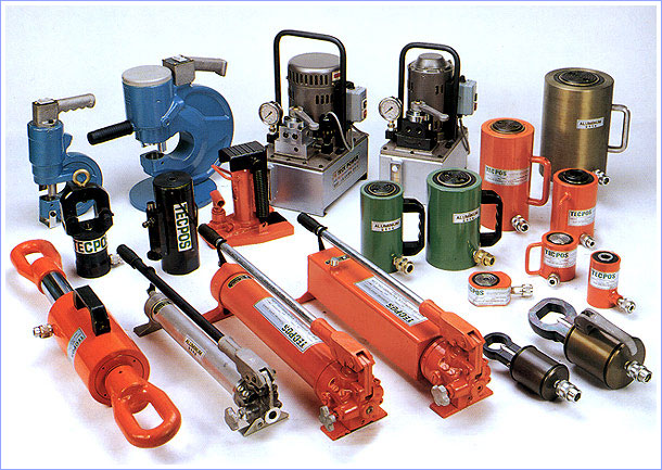 Hydraulic Cylinder, Pump and Tools
