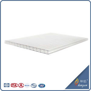Wholesale Plastic Building Materials: 100% Bayer Material Twin Wall PC Hollow Sheet